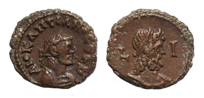 Ancient Coins - Egypt, Alexandria. Diocletian AD 284-305, AE Tetradrachm dated 293/94