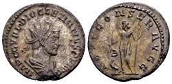 Ancient Coins - Diocletian AD 284-305, AE Antoninianus Lugdunum / From a 1964 hoard