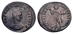 Ancient Coins - Constantine II Caesar AD 317-337, AE Follis (20mm, 3.02 gram) Siscia 317