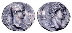 Ancient Coins - Kings of Pontus. Polemo II, with Nero AD 38-64, AR Drachm (17mm, 3.36 gram) dated regnal year 20, AD 57/8