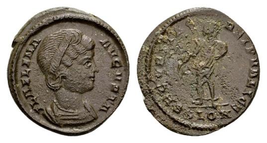 Ancient Coins - Rare London mint Follis of Helena, (19mm, 2.95 g) / Ex Lückger