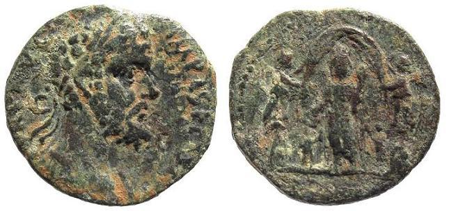 Ancient Coins - Syria, Heliopolis. Septimius Severus AD 193-211, AE 27mm (12.07g)