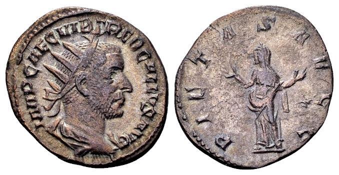 Ancient Coins - Trebonianus Gallus AD 251-253, AR Antoninianus (21mm, 3.27 g) Rome