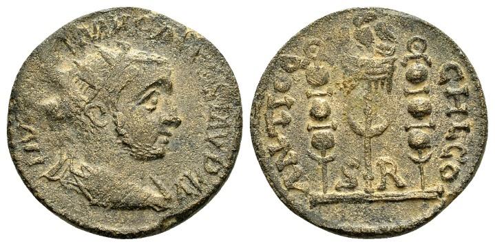 Ancient Coins - Pisidia, Antioch. Volusian AD 251-253, AE 22mm (7.00 g)