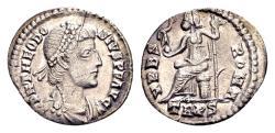 Ancient Coins - Theodosius I AD 379-395, AR Siliqua (18mm, 1.78 gram) Trier
