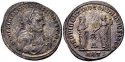 Ancient Coins - Maximian AD 285-310, AE silvered Follis (27mm, 9.04 g) Antioch AD 306