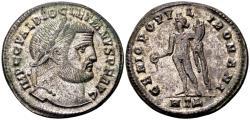 Ancient Coins - Diocletian AD 284-305, AE silvered Follis (28mm, 10.92 gram) Heraclea c. 297-98
