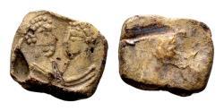 Ancient Coins - Roman lead seal (13x11x4 mm, 3.12 gram) c. 4th century