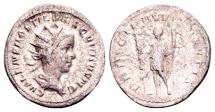 Ancient Coins - Hostilian Caesar AD 251, AR Antoninianus (21mm, 2.70g) Rome