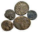 "Lot of 5 AE ""barbarous"" radiates of Tetricus I from the Hüther collection"
