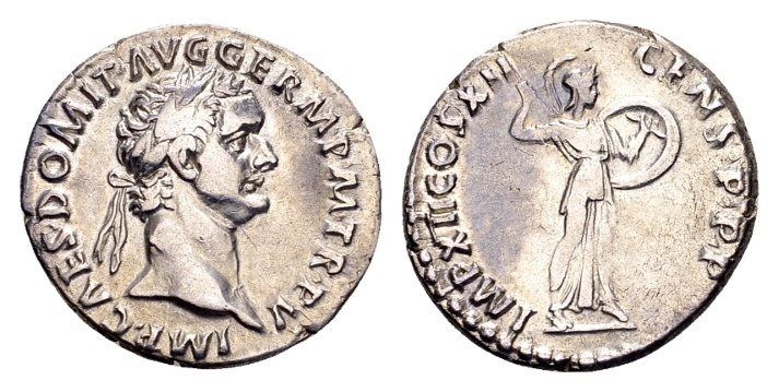 Ancient Coins - Domitian AD 81-96, AR Denarius (20mm, 3.41 g) Rome AD 86