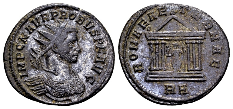 Ancient Coins - Probus AD 276-282, AE silvered Antoninianus Rome / Ex Lückger