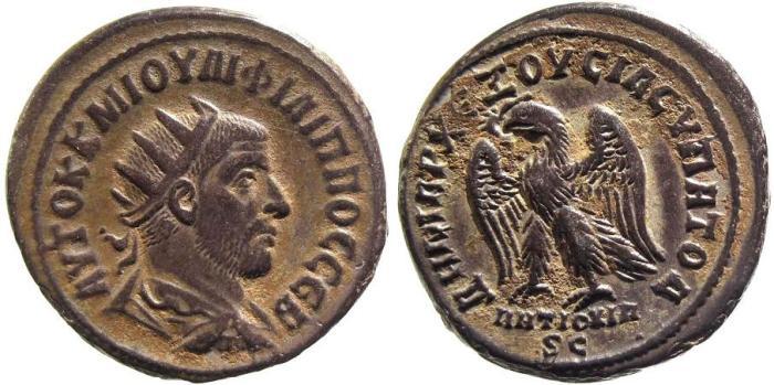 Ancient Coins - Syria, Antioch. Philip I AD 244-249, billon Tetradrachm (11.39g; 28mm)