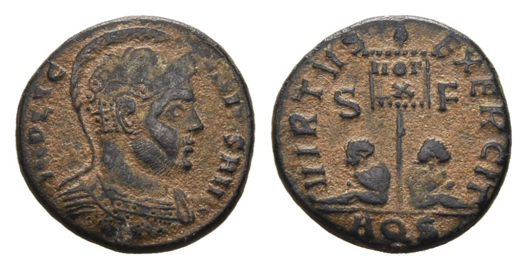 Ancient Coins - Licinius I AD 308-324, AE Follis (17mm, 2.92g) Aquileia AD 320