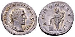 Ancient Coins - Philip I AD 244-249, AR Antoninianus (22mm, 3.90 gram) Rome