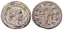 Ancient Coins - Trebonianus Gallus 251-253 AD, AR Antoninianus (22 mm, 4.16 gram) Antioch, first group 251-2, 3rd officina