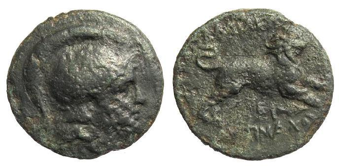 Ancient Coins - Thracian Kingdom. Lysimachos 323-281 BC, AE 18mm (4.01g)