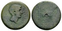 Ancient Coins - Mysia, Parium. Augustus 27 BC-AD 14, AE 24mm (9.14 gram) M. Barbatius and M. Acilius, IIvir, P. Vibius, sacerdos Caesaris, and Q. Barbatius, praefectus pro IIvir