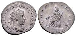 Ancient Coins - Trebonianus Gallus AD 251-253, AR Antoninianus (22mm, 3.82 gram) branch mint of Rome