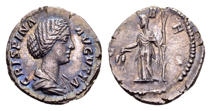 Ancient Coins - Crispina, wife of Commodus AD 177-180, AR Denarius (18mm, 2.51 g) Rome
