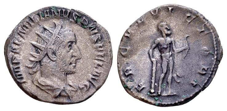 Ancient Coins - Aemilian AD 253, AR Antoninianus (21mm, 4.53 g) Rome