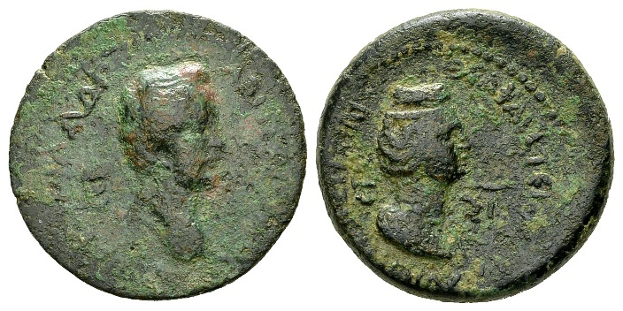 Ancient Coins - Cilicia, Flaviopolis. Antoninus Pius AD 138-161, with Diva Faustina, AE 23mm (6.86g) dated year 67, AD 140/1