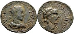 Ancient Coins - Cilicia, Epiphanea. Valerian I AD 253-260, AE 34 mm (20.62 gram) dated year 322, AD 254/5