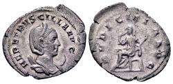 Ancient Coins - Herennia Etruscilla, wife of Trajan Decius AD 249-251, AR Antoninianus (21x25mm, 3.34 gram) Rome