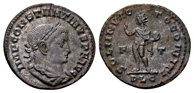 Ancient Coins - Constantine the Great AD 307-337, AE Follis (23mm, 4.41 gram) Lugdunum 309-10