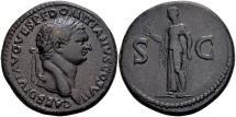 Ancient Coins - Domitian Caesar AD 69-81, AE Sestertius (35mm, 25.96 gram) Rome
