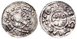 World Coins - Germany, Bavaria, Regensburg. Heinrich II, King AD 1002-1024, AR Denar (20mm, 1.26 gram)