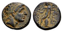Ancient Coins - Seleucid Kingdom, Antiochos I, 280-261 BC, AE (16/17 mm, 4.62 gram) Antioch