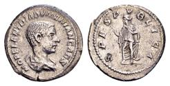 Ancient Coins - Diadumenianus Caesar AD 218, AR Denarius (20mm, 2.77 gram) Rome