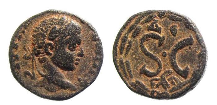 Ancient Coins - Syria, Antioch. Elagabalus AD 218-222, AE 18.5mm (5.05g)