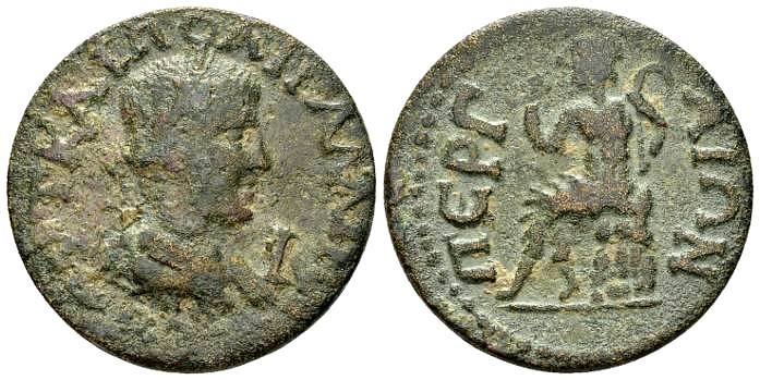 Ancient Coins - Pamphylia, Perge. Gallienus AD 253-268, AE 29mm (16.39g)