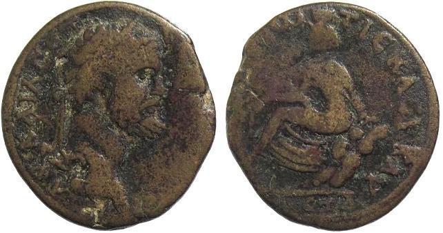 Ancient Coins - Cappadocia, Tyana. Septimius Severus AD 193-211, AE 29mm (12.22g)