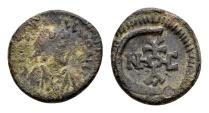 Justinian I AD 527-565, AE Pentanummium (14/15mm, 2.12 gram) Antioch