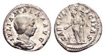 Ancient Coins - Julia Maesa, grandmother of Elagabalus, died AD 225, AR Denarius (19mm, 3.10 g) Rome AD 218-222