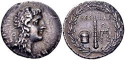 Ancient Coins - Macedonia as Roman Province. Aesillas, quaestor, circa 95-70 BC, AR Tetradrachm (30mm, 16.03 gram)