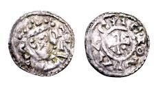 World Coins - Germany, Bavaria, Regensburg. Heinrich III, King AD 1039-1056, AR Obol (14mm, 0.45 gram)