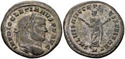 Ancient Coins - Diocletian 284-305, AE silvered Follis (29mm, 9.93 g) Carthage c. 299-303