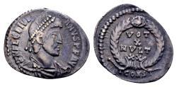 Ancient Coins - Ex East Harptree hoard - Julian II AD 360-363, AR Siliqua (18mm, 1.68 gram) Arelate