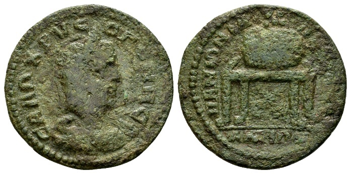 Ancient Coins - Ionia, Miletus. Salonina, wife of Gallienus AD 253-268, AE 26mm (7.17 g) / Celebrating the Panionian Pythian Games