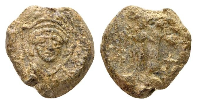 Ancient Coins - Justinian AD 527-565. Byzantine lead imperial seal