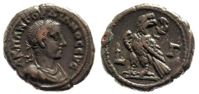 Ancient Coins - Egypt, Alexandria. Gordian III AD 238-244, AE Tetradrachm (24mm; 12.73g) struck AD 239-40