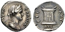 Ancient Coins - Sabina, wife of Hadrian, died AD 137, AR Denarius (18mm, 3.36 gram) struck posthumously in Rome