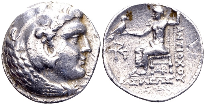 Ancient Coins - Antiochos III 223-187 BC, AR Tetradrachm (26mm, 16.90 g) Susa 223-222 BC