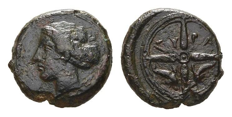 Ancient Coins - Sicily, Syracuse. Dionysios I 405-367 BC, AE 16mm (3.76g)