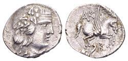 Ancient Coins - Korkyra, Korkyra. AR Drachm (20mm, 424 gram) Roman rule, circa 229-48 BC