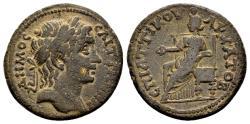 Ancient Coins - Lydia, Saitta. Time of Septimius Severus AD 193-211, AE 23mm (6.06 g), Attikos, magistrate